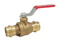 Red and White 5020AB-3/4 EzPress Lead Free Brass 3/4 inch Press x 3/4 inch Press Full Port Ball Valve