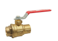 Red and White 5049AB-3/4 Lead Free Brass 3/4 inch Sweat x 3/4 inch Sweat Full Port Ball Valve