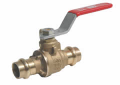 "Red and White 1/2-5020AB 1/2"" Lead Free Brass EzPress 2-Piece Full Port Ball Valve"