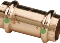 Viega 78047 ProPress 1/2 inch Press Copper Coupling with Stop and EPDM Sealing Elements